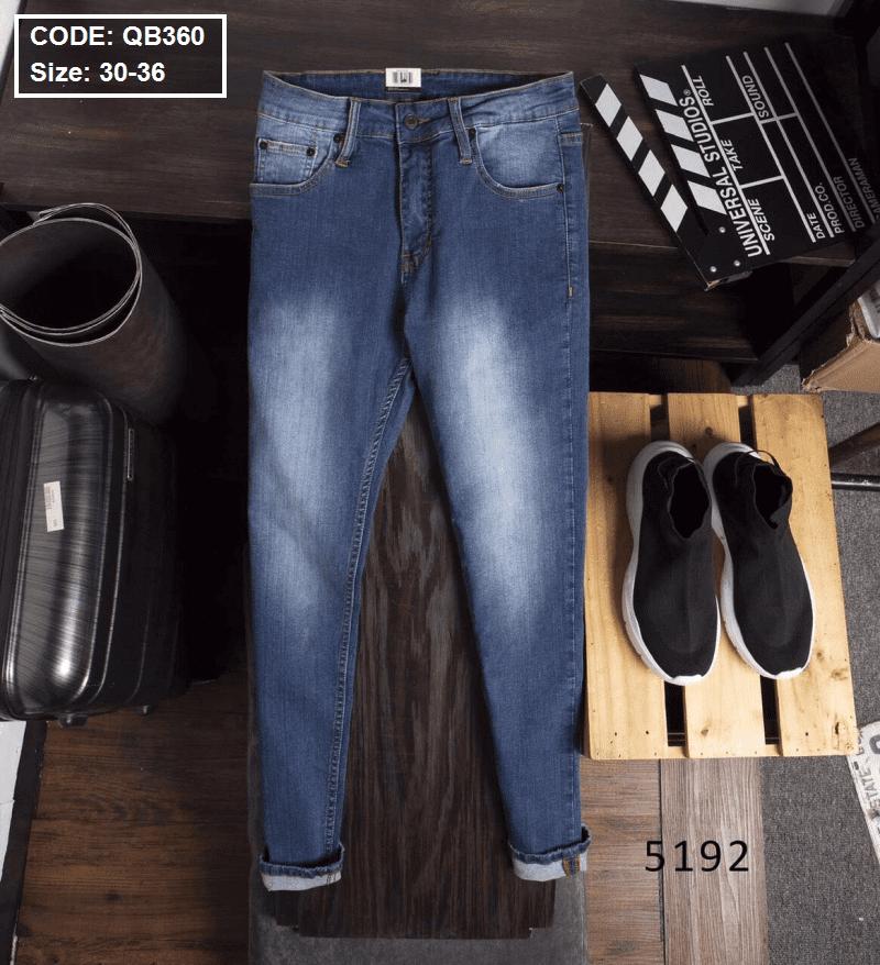Quần jean dài nam 5192 ống ôm